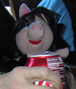 Miss Piggy Drinks