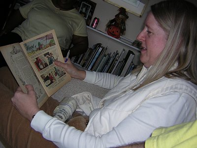 Sharon Enjoys Dell Comic